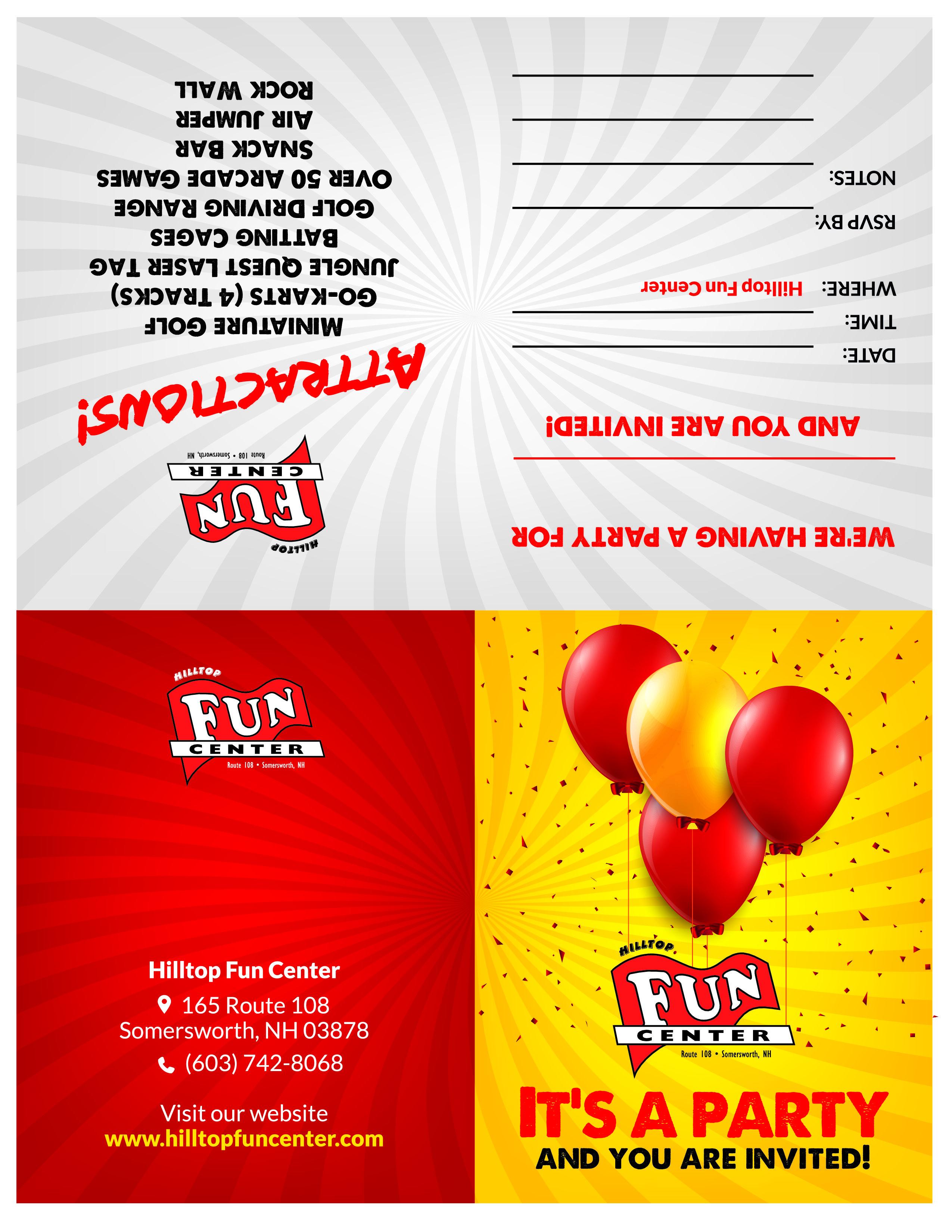 Birthday Parties – Hilltop Fun Center